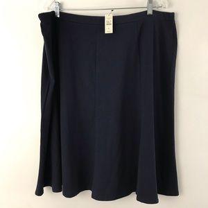 TALBOTS Knit Skirt Elastic waist Navy Blue Size 2X